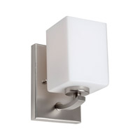 Forte Lighting 5113-01-55 Signature 1 Light 5 inch Brushed Nickel Wall Sconce Wall Light
