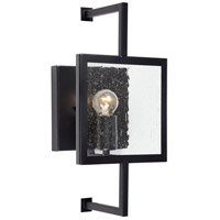 Forte Lighting 5114-01-04 Signature 1 Light 7 inch Black Wall Sconce Wall Light
