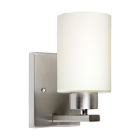Forte Lighting 5186-01-55 Signature 1 Light 5 inch Brushed Nickel Wall Sconce Wall Light