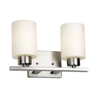 Forte Lighting 5186-02-55 Signature 2 Light 13 inch Brushed Nickel Vanity Light Wall Light