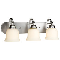Forte Lighting 5195-03-55 Aubrey 3 Light 24 inch Brushed Nickel Bath Bar Wall Light
