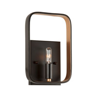 Signature 1 Light 6 inch Black and Gold Wall Sconce Wall Light