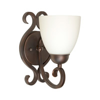 Forte Lighting 5250-01-32 Signature 1 Light 5 inch Antique Bronze Wall Sconce Wall Light