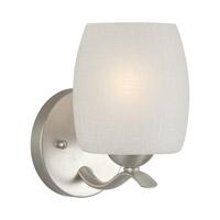 Forte Lighting 5251-01-55 Signature 1 Light 5 inch Brushed Nickel Vanity Light Wall Light