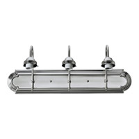 Forte Lighting 52703-55 Signature 3 Light 24 inch Brushed Nickel Vanity Light Wall Light
