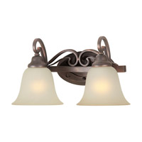 Forte Lighting 5346-02-32 Signature 2 Light 17 inch Antique Bronze Vanity Light Wall Light