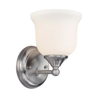 Forte Lighting 5532-01-55 Signature 1 Light 6 inch Brushed Nickel Vanity Light Wall Light