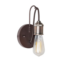 Forte Lighting 5534-01-32 Signature 1 Light 5 inch Antique Bronze Wall Sconce Wall Light