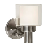 Forte Lighting 5691-01-55 Signature 1 Light 6 inch Brushed Nickel Wall Sconce Wall Light