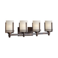 Forte Lighting 5692-04-32 Signature 4 Light 28 inch Antique Bronze Vanity Light Wall Light