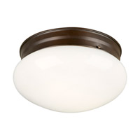 Signature 1 Light 8 inch Antique Bronze Flush Mount Ceiling Light