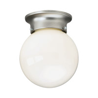 Forte Lighting 6004-01-55 Signature 1 Light 6 inch Brushed Nickel Flush Mount Ceiling Light