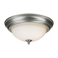 Forte Lighting 6029-02-55 Signature 2 Light 14 inch Brushed Nickel Flush Mount Ceiling Light