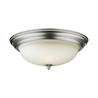 Signature 3 Light 16 inch Brushed Nickel Flush Mount Ceiling Light