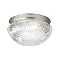 Forte Lighting 6036-01-55 Signature 1 Light 8 inch Brushed Nickel Flush Mount Ceiling Light