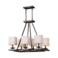 Forte Lighting 7038-06-32 Signature 6 Light 19 inch Antique Bronze Chandelier Ceiling Light