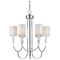 Forte Lighting 7042-06-05 Signature 6 Light 24 inch Chrome Chandelier Ceiling Light