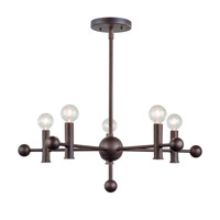 Forte Lighting 7058-05-32 Signature 5 Light 23 inch Antique Bronze Chandelier Ceiling Light