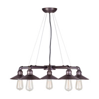 Forte Lighting 7059-05-32 Signature 5 Light 27 inch Antique Bronze Chandelier Ceiling Light