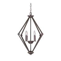 Forte Lighting 7062-04-32 Signature 4 Light 21 inch Antique Bronze Foyer Pendant Ceiling Light