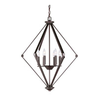 Forte Lighting 7062-06-32 Signature 6 Light 24 inch Antique Bronze Foyer Pendant Ceiling Light