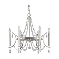 Signature 6 Light 26 inch Brushed Nickel Chandelier Ceiling Light