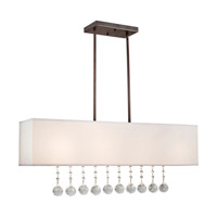 Forte Lighting 7071-04-32 Signature 4 Light 36 inch Antique Bronze Island Pendant Ceiling Light