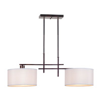 Forte Lighting 7074-02-32 Signature 2 Light 36 inch Antique Bronze Island Pendant Ceiling Light