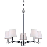 Forte Lighting 7078-05-05 Signature 5 Light 25 inch Chrome Chandelier Ceiling Light