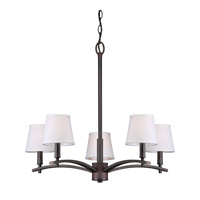 Forte Lighting 7078-05-32 Signature 5 Light 25 inch Antique Bronze Chandelier Ceiling Light