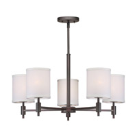 Forte Lighting 7081-05-32 Signature 5 Light 25 inch Antique Bronze Chandelier Ceiling Light