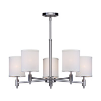 Forte Lighting 7081-05-55 Signature 5 Light 25 inch Brushed Nickel Chandelier Ceiling Light