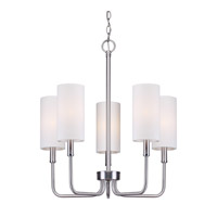Forte Lighting 7083-05-55 Signature 5 Light 21 inch Brushed Nickel Chandelier Ceiling Light