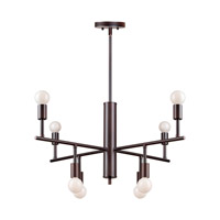 Forte Lighting 7091-08-32 Signature 8 Light 28 inch Antique Bronze Chandelier Ceiling Light