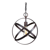Forte Lighting 7094-01-32 Signature 1 Light 12 inch Antique Bronze Mini Pendant Ceiling Light