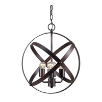 Forte Lighting 7094-04-32 Signature 4 Light 16 inch Antique Bronze Globe Pendant Ceiling Light