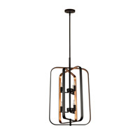 Forte Lighting 7096-06-42 Signature 6 Light 18 inch Black and Gold Chandelier Ceiling Light