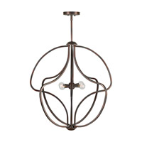 Forte Lighting 7100-04-32 Signature 4 Light 26 inch Antique Bronze Foyer Pendant Ceiling Light