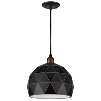Forte Lighting 7106-01-04 Signature 1 Light 12 inch Black Pendant Ceiling Light
