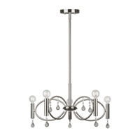 Forte Lighting 7114-05-55 Signature 5 Light 22 inch Brushed Nickel Chandelier Ceiling Light