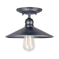 Signature 1 Light 10 inch Industrial Gray Semi Flush Mount Ceiling Light