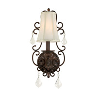 Forte Lighting 7484-01-32 Signature 1 Light 8 inch Antique Bronze Wall Sconce Wall Light