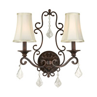 Forte Lighting 7484-02-32 Signature 2 Light 16 inch Antique Bronze Wall Sconce Wall Light
