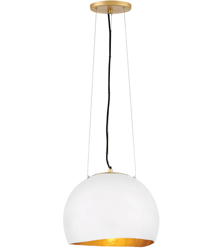 Fredrick Ramond 35904SHW Nula 1 Light 14 inch Shell White Pendant Ceiling Light, Single Tier photo
