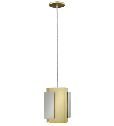 Fredrick Ramond Stratus 1 Light Mini-Pendant in Brushed Aluminum and Brushed Bronze FR30407BBA photo