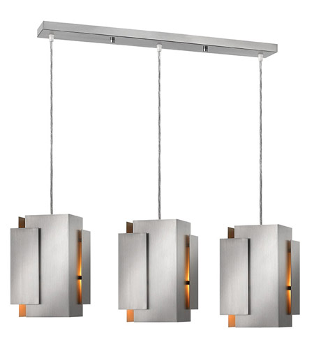 Fredrick Ramond FR30409BNI Stratus 3 Light 37 inch Brushed Nickel Pendant Ceiling Light photo