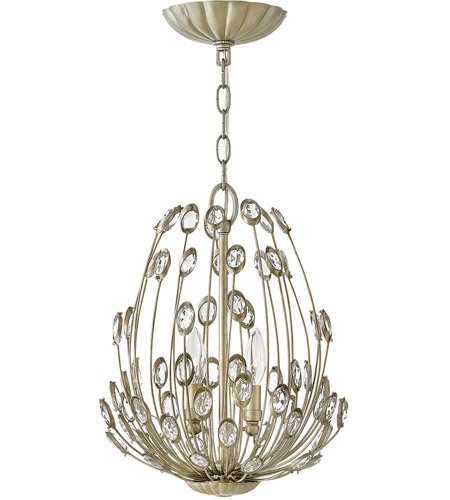 Fredrick Ramond FR31027SLF Tulah 2 Light 12 inch Silver Leaf Pendant Ceiling Light photo