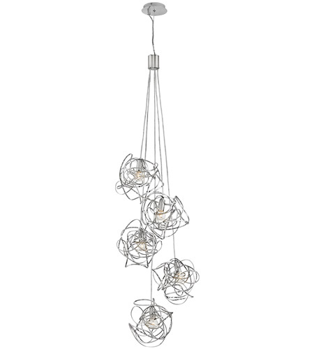 Fredrick Ramond FR32015PNI Rumor 7 Light 20 inch Polished Nickel Cluster Pendant Ceiling Light photo