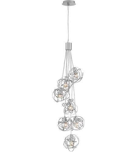 Fredrick Ramond FR32016PNI Rumor 5 Light 12 inch Polished Nickel Cluster Pendant Ceiling Light photo