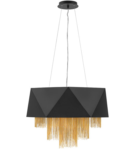 Satin Black Steel Zuma Chandeliers